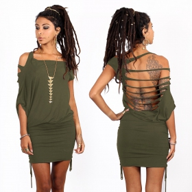 """Elm Street\"" dress, Khaki"