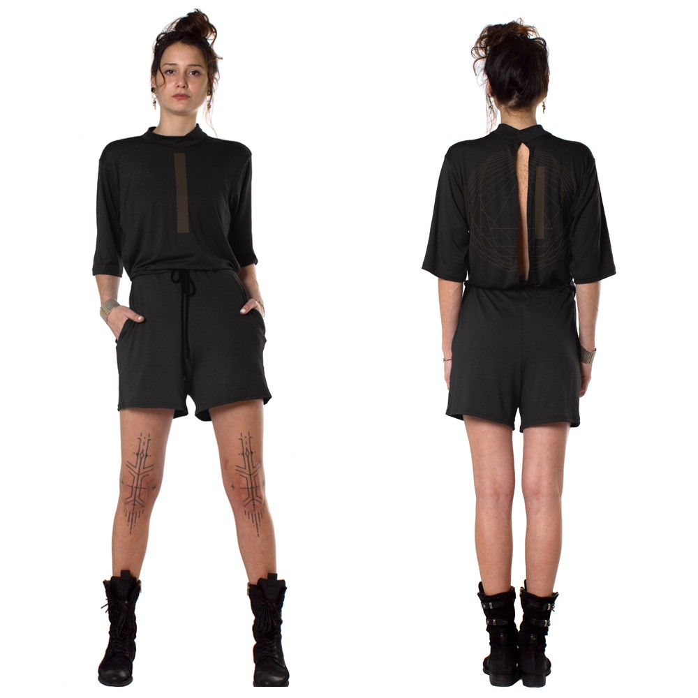 """Era\"" playsuit, Black"