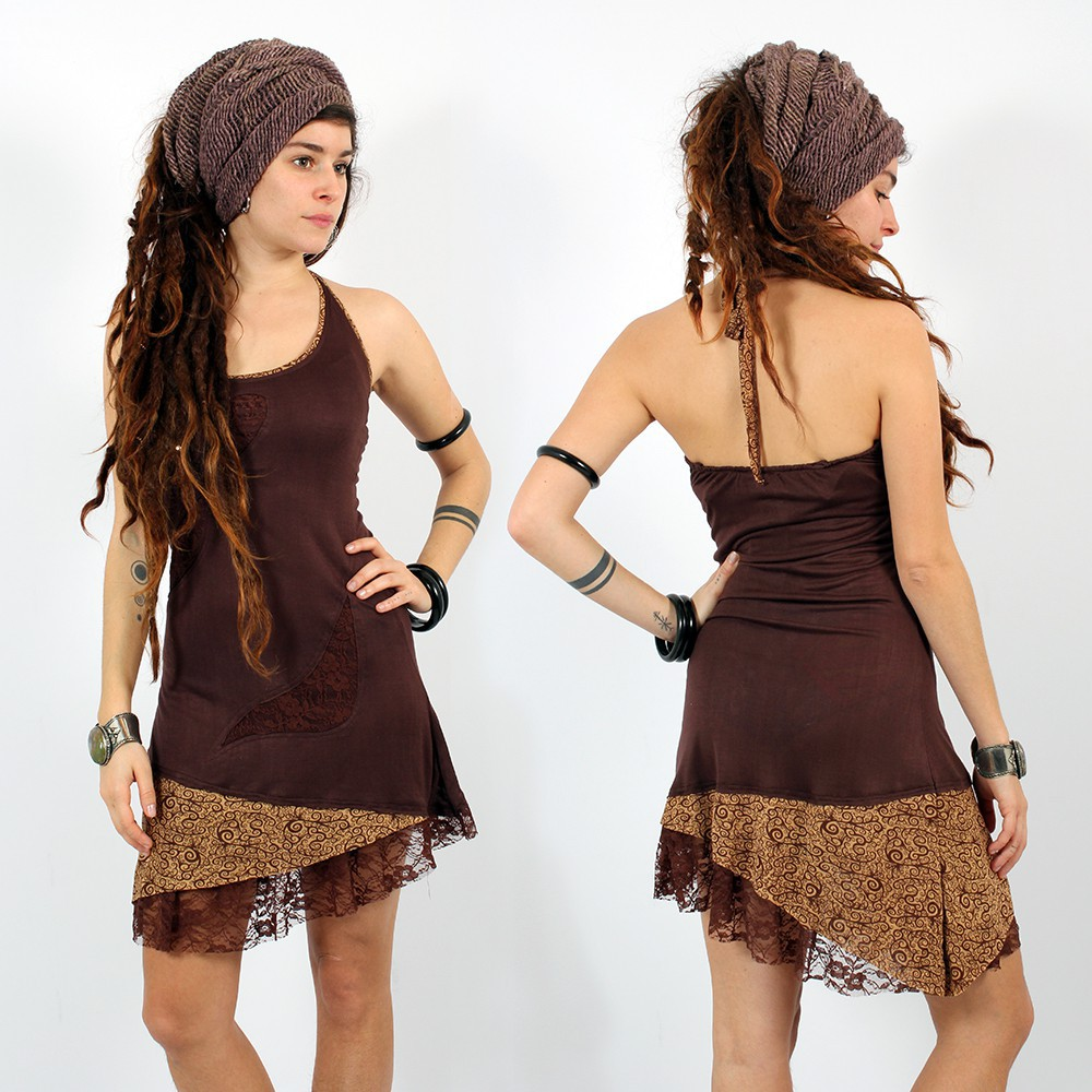 "Exception Dress \""Tarmy\\\"", Brown"