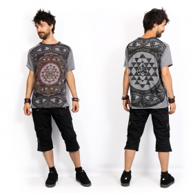 """Eyes\"" t-shirt, Dark grey"