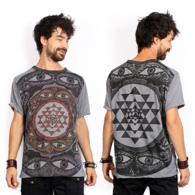 "\""Eyes\"" t-shirt, Dark grey"