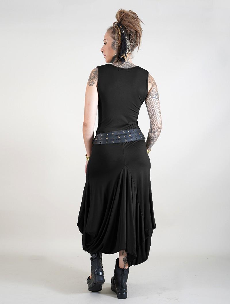 "\""Ezra\"" sleeveless long dress, Black"