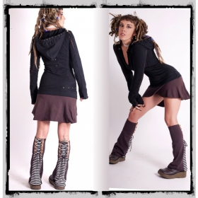 """Fairy floss \\\""""direwood\\\"""" dress, black and brown"""