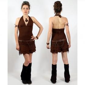 """Fairy floss \\\""""fringe\\\"""" dress, brown"""