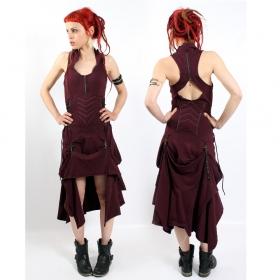"Fairy floss \\\""steam goth\\\"" dress, burgundy"
