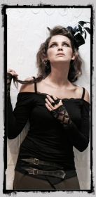 "Fairy floss top \\\""temptress\\\"", black"