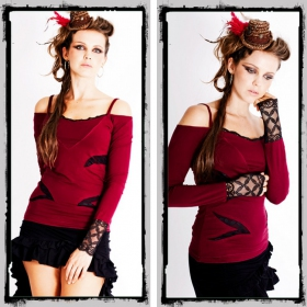 """Fairy floss top \\\""""temptress\\\"""", red"""