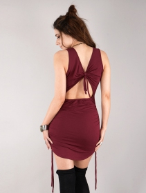 """Fawiza\"" short dress, Wine"
