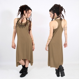 ""\\""""Feather neck\"""" asymmetric dress, Brown and black""280|280|?|en|2|1d19ee63e2f854da2a9ffcd8461b41e7|False|UNLIKELY|0.3352946937084198