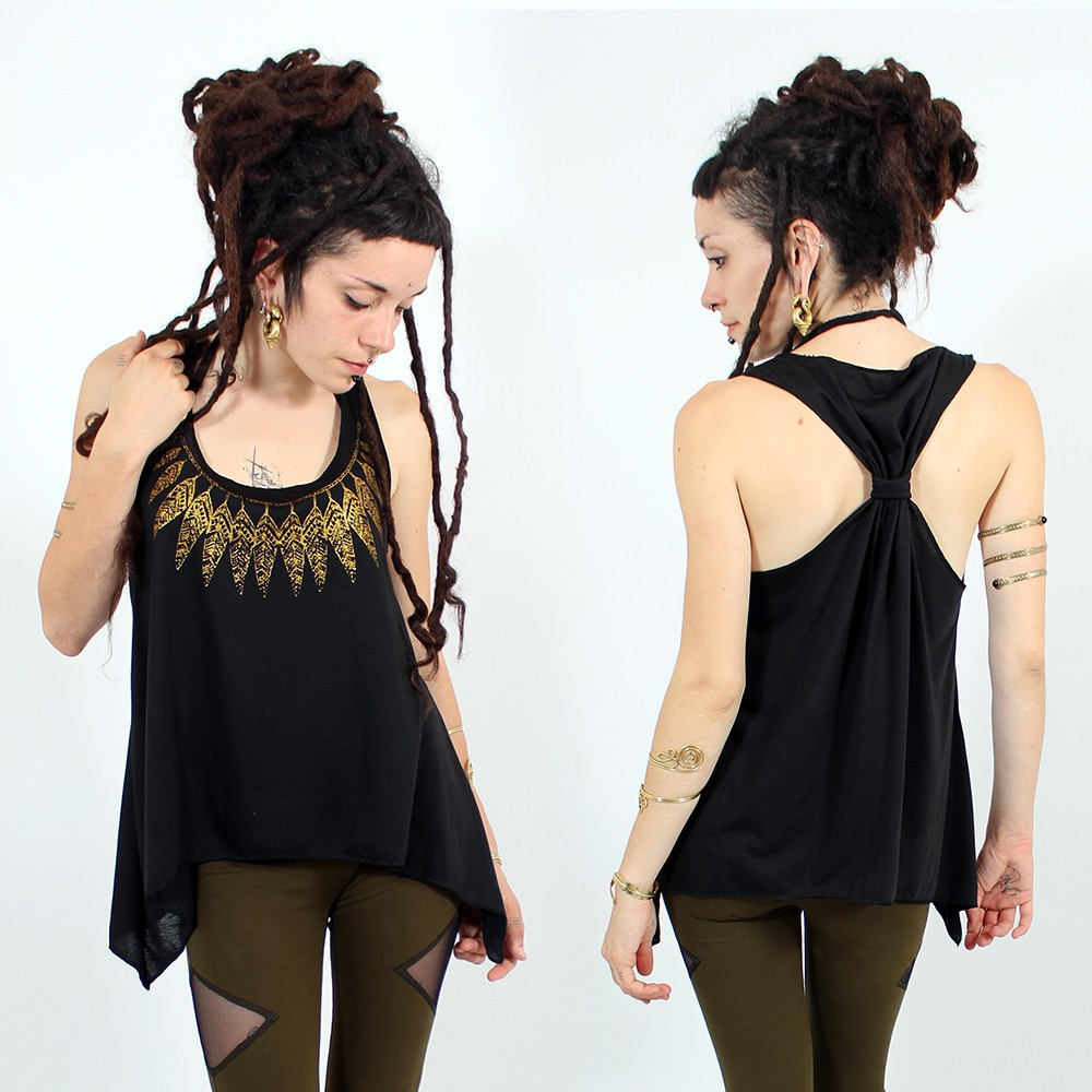""\\""""Feather neck\"""" knotted tank top, Black and gold""1000|1000|?|en|2|cb5a50922e94edf3909ffdd20f277130|False|UNLIKELY|0.3333105742931366
