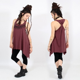 ""\\""""Feather neck\"""" knotted tunic, Mottled wine and black""280|280|?|en|2|380c27fe9cb13706eb8592211bcbe3b6|False|UNLIKELY|0.3078906536102295