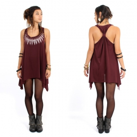 ""\\""""Feather neck\"""" knotted tunic, Wine and silver""280|280|?|en|2|969537ba3e06bab27370460cc370a8f3|False|UNLIKELY|0.3210547864437103