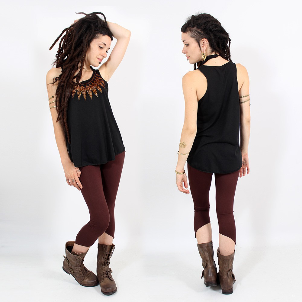 """Feather neck\"" tank top"