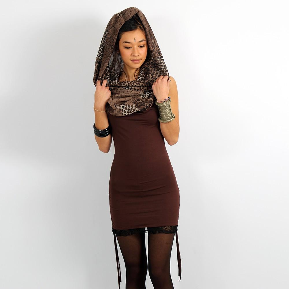 "\\\""Feline\\\"" dress, Brown"