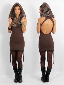 "\""Feline\"" dress, Brown"