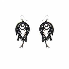 """Flames\"" inner tube earrings"