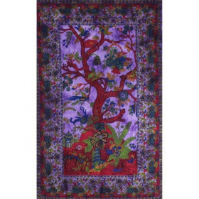 "\""Floral Tree of Life\\\"" hanging, Purple"