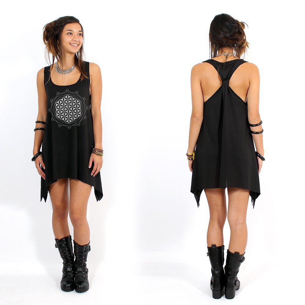 """Flower of Life\"" knotted tunic"