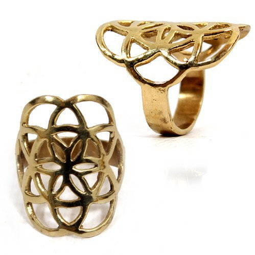 """Flower of Life\"" ring"