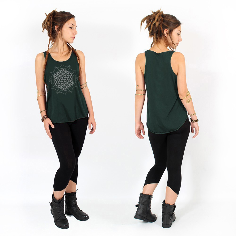 """Flower of Life\"" tank top"