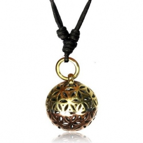 "\""Fower of Life ball\\\"" necklace"