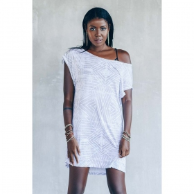 "\""Freedom\"" dress, White"