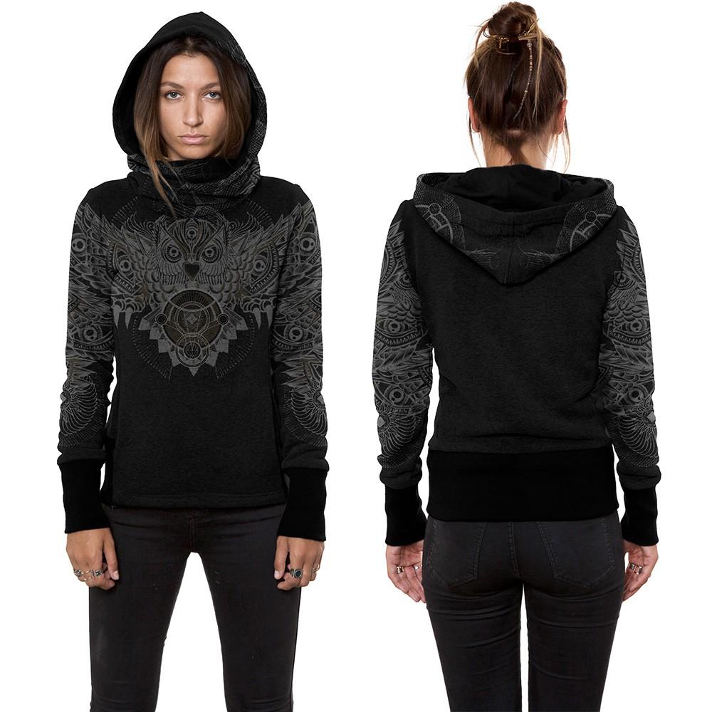 "\""Fukuro\"" hoodie, Black"