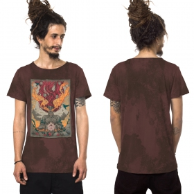 """Fusion Culture\"" t-shirt, Washed wine"