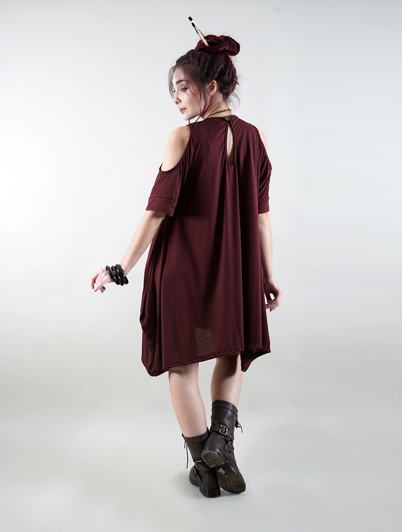 """Gaagiï\"" long top, Burgundy wine"