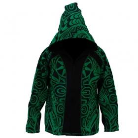 """GadoGado Jacket dwarfhood \""""Ivoa\"""", Green black"""