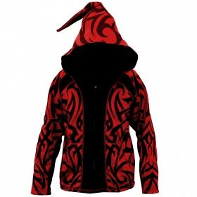 "GadoGado Jacket dwarfhood \""Nohorai\"", Red black"