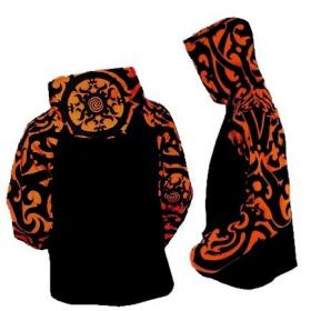 "GadoGado Jacket roundhood \""Ariinuii\"", Orange black"