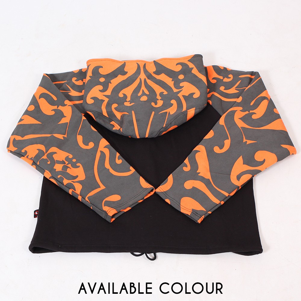 "GadoGado Jacket roundhood ""Ariinuii"", Orange black"