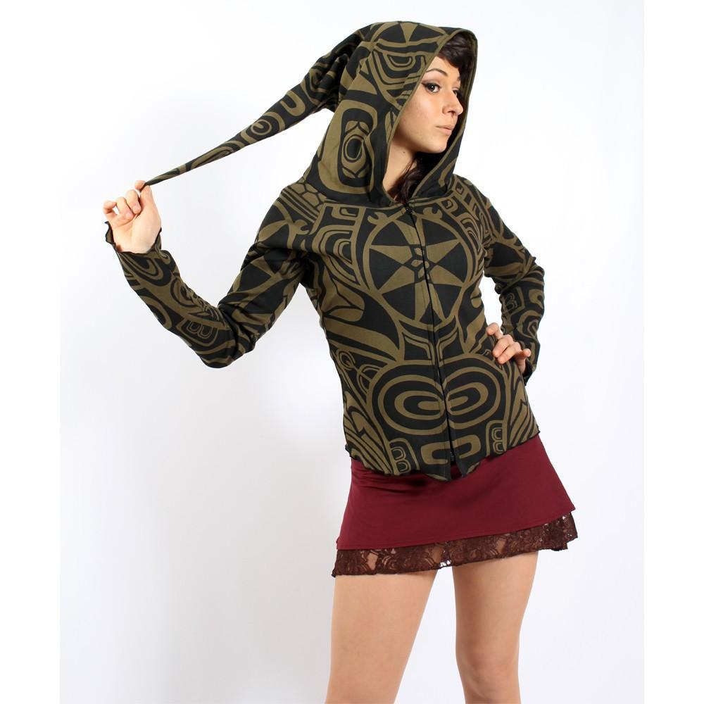 "GadoGado Light dwarfhood jacket \""Kamini haida\"", Khaki"