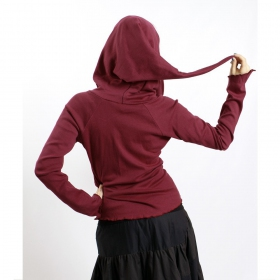 "GadoGado Light jacket dwarfhood \""Kamini Plain\\\"", Wine"