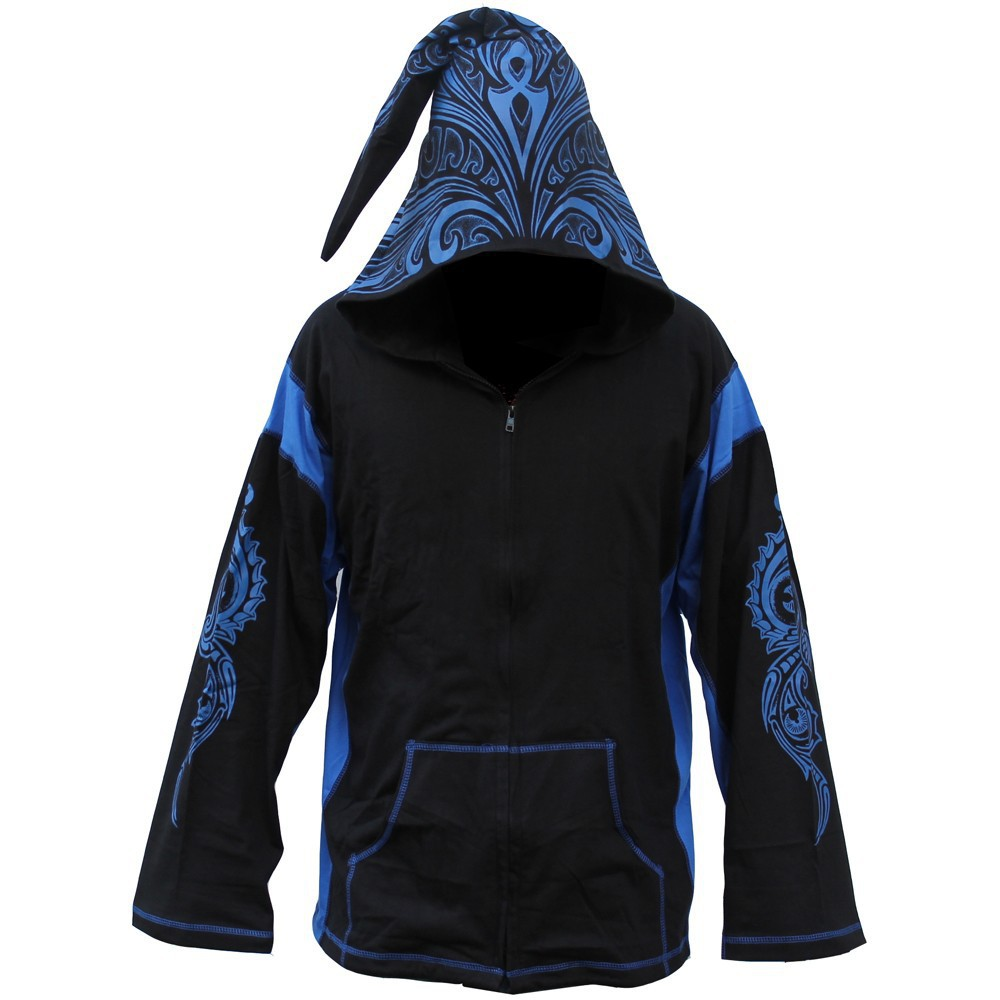 "GadoGado Light jacket dwarfhood ""Turo\"", Black blue"