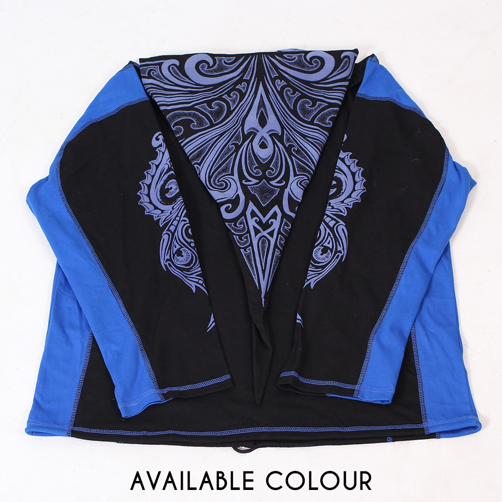 "GadoGado Light jacket dwarfhood ""Turo"", Black blue"