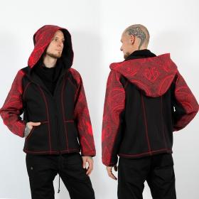 """GadoGado Roundhood jacket \""""Yoda Tera\"""", Black"""