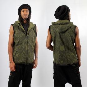 "GadoGado Sleeveless jacket \""Onati\"", Khaki"