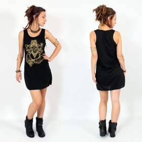 """Ganesh\"" dress, Black and Gold"