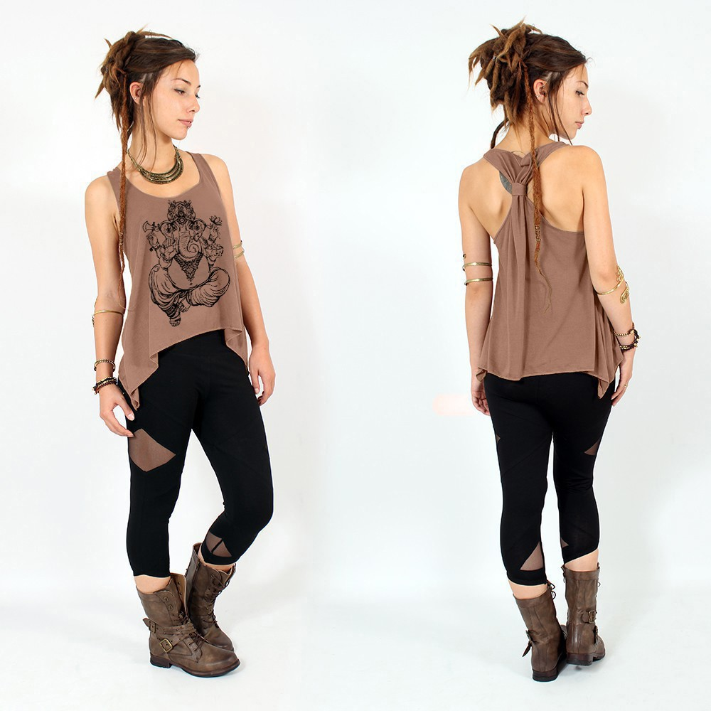 """Ganesh\"" knotted tank top"