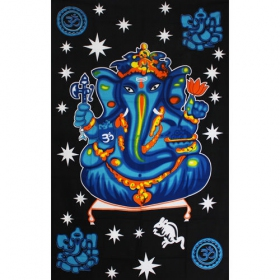 """Ganesh Colors\"" hanging, Blue and black"