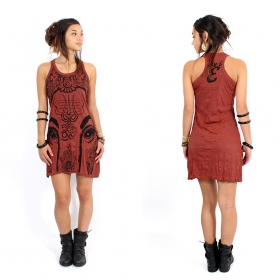 "\""Ganesh Eye\\\"" dress, Dark red"