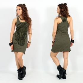 """Ganesh Face\"" dress, Khaki"