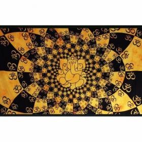 "\\\""Ganesh many Ohm\\\"" hanging, Yellow"