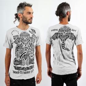 "\""Ganesh Tribal\"" t-shirt, White"