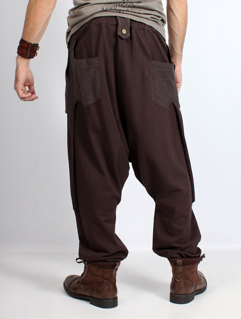 "Gender neutral - \""Ifarit\"" Harem pants, Brown"