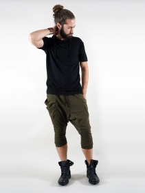 "Gender neutral - \""Safar\"" unisex 3/4 Harem pants, Khaki green"