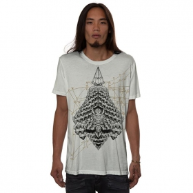 """Geo Conehead\"" t-shirt, Off white"