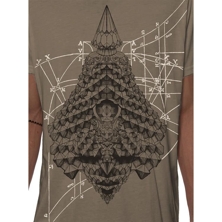"\""Geo Conehead\"" t-shirt, Rock"